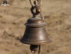 closeup of sanjay's bell