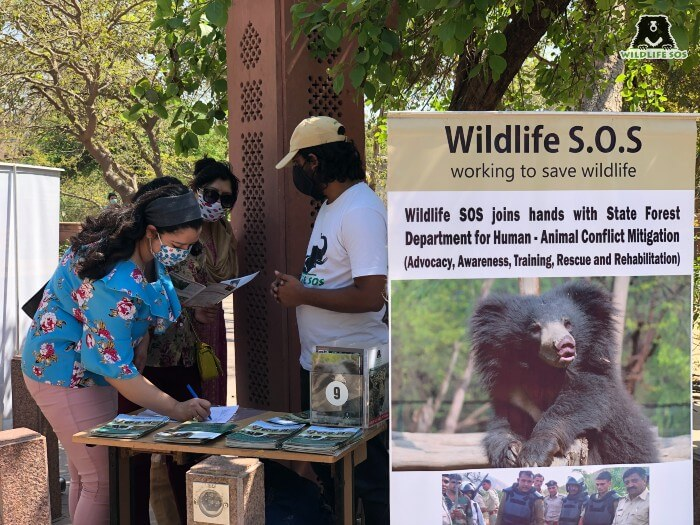 Flyers on wildlife conservation were also distributed.