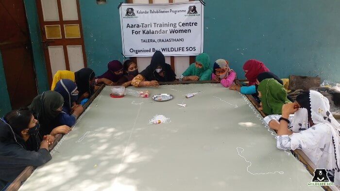 In Talera, Rajasthan, women volunteered to participate in the training session.