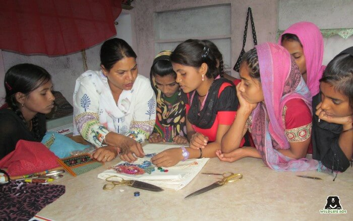 She has taught and assisted the Kalandar women for embroidery and sewing material as well.