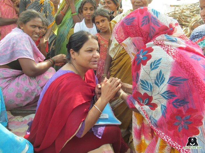 Her work involves extensive travel through Kalandar villages wherein she has to interact with the community.